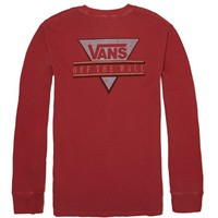 Vans Triune Vintage Long Sleeve T-Shirt - Mens Tee - Red