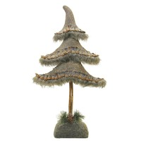 """19.5"""" Glittered Country Rustic Tree Christmas Tabletop Decoration"""