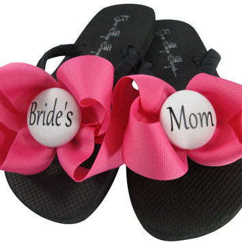 Hot Pink Mother of the Bride Flip Flops for the Wedding