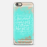 surround yourself (aqua) iPhone 6 case by Chelsea Peters | Casetify