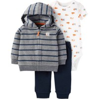 Child of Mine by Carter's Newborn Baby Boy Cardigan Set 3 Pieces - Walmart.com