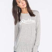 Young & Reckless Big R Script Womens Tee Heather Grey  In Sizes