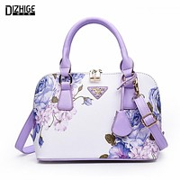 Printing Floral Fashion Women Bag Brand Shell Leather Bags Women Handbags Designer Summer Shoulder Bags Sac A Main Femme 2016