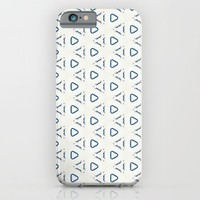 Acrylic Blue Triangles iPhone & iPod Case by Doucette Designs