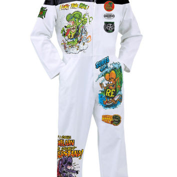 Hot Rod Racing Mechanic Rat Fink Ed Roth Men's Overall