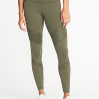 High-Rise Moto Compression 7/8-Length Leggings for Women | Old Navy