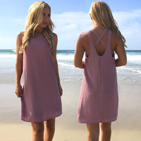 Mortal Love Shift Dress In Plum