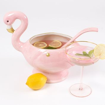 Flamingo Punch Bowl