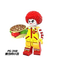 PG348 Chief joy officer Uncle clown Fast food chain's signature mascot Legoing Figures Model Building Blocks Toys For Children