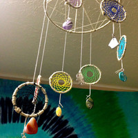 Sacred Geometry Chakra Dreamcatcher Mobile