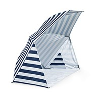 ONIVA - a Picnic Time Brand Brolly Sunshelter Navy and White Stripe