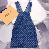 LV Louis Vuitton Women Strap Dress