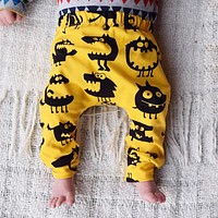 born Baby Boy Girl Kids Monster Bottom Harem Pants Leggings Trousers 0-3Y Cotton Infant Novelty Children Loose Pants