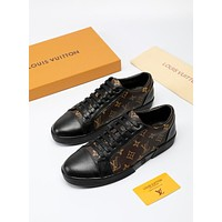 LV Louis Vuitton Men's Monogram Canvas Fashion Sneakers Shoes
