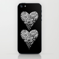 two sparkling hearts iPhone & iPod Skin by Marianna Tankelevich