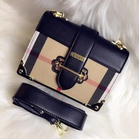 '' BURBERRY '' Women Shopping Leather Crossbody Shoulder Bag