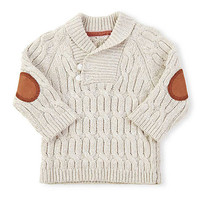 Cream Cable Knit Toggle Pullover Sweater - Infant