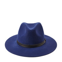 Wide-Brim Wool Fedora
