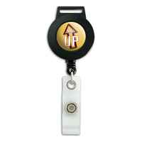 What's Up Casual Hello Greeting Retractable Badge Card ID Holder
