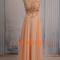 New Fashion Long Crystals Prom Dresses Sexy Party by cocohouse
