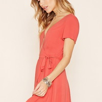 Chiffon Self-Tie Wrap Dress