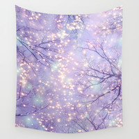 Each Moment of the Year Has It's Own Beauty (Tree Silhouettes) Wall Tapestry by Soaring Anchor Designs