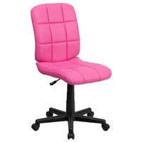 Flash Furniture Mid-Back Pink Quilted Vinyl Task Chair