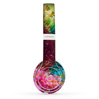 The Vibrant Colored Wet Flower Skin Set for the Beats by Dre Solo 2 Wireless Headphones