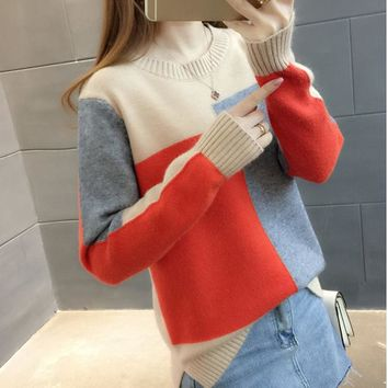 Ugly Christmas Sweater Pull Femme Hiver Pullover Women Sueter Mujer 2018 Korean Sweater Jumper Knitted Sweaters Harajuku Kawaii