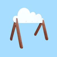 Wooden Baby Gym - Cloud - Custom Colors Available