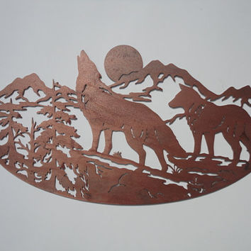 Mountain Wolves Wall Hanging