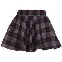 ROMWE | Khaki Plaid Skater Skirt, The Latest Street Fashion