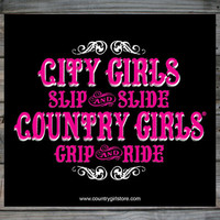 "Country Girls ™ Grip & Ride 5"" x 5"" Sticker"