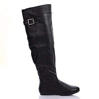 Rebecca60 By Bamboo, Slouchy Equestrian Riding Boots w Harness Buckles, New Women Shoes