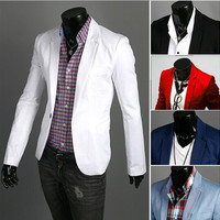 Blazer men New Arrival Fashion Clothing Wild Single Button terno suit Jacket Men's Casual Slim Fit Suit blazer masculino