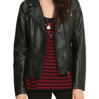 Orphan Black Pleather Girls Moto Jacket