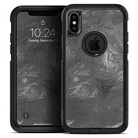 Black & Silver Marble Swirl V5 - Skin Kit for the iPhone OtterBox Cases