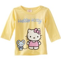 Hello Kitty Organics Baby Girls' Joey Long Sleeve Snap Tee