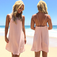 Dry Spell Dress In Blush Pink