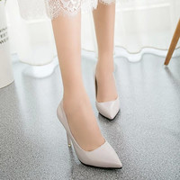 brand red bottom high heels patent leather women pumps pointed toe sexy ladies stiletto shoes woman plus size 34-39