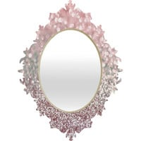 Lisa Argyropoulos Girly Pink Snowfall Baroque Mirror