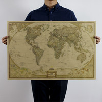 Vintage World Map Antique Posters