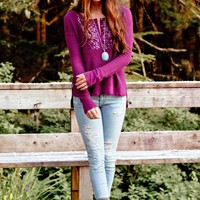 AE Sequined Waffle Henley