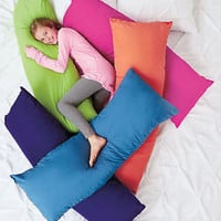 "52"" Bright Body Pillow Fun/Comfortable Bedroom Reading Watch TV Pick Your Color"