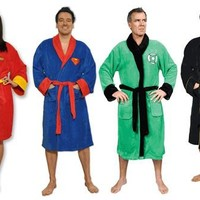 Superhero Comic Adult Bath Robe - DC Comics - | TV Store Online