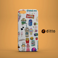 JUNK FOOD CRAZY Design Custom Case by ditto! for iPhone 6 6 Plus iPhone 5 5s 5c iPhone 4 4s Samsung Galaxy s3 s4 & s5 and Note 2 3 4