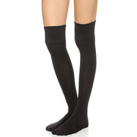 """Fake the socks"" Over-knees Tights"