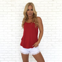 In This Skin Tank In Tango Red
