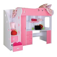 NIKA LOFT Bed/Workstation (Pink)