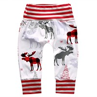 Baby Boy Leggings Christmas Deer Kids Baby Reindeer Pants